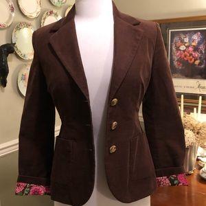 Lilly Pulitzer corduroy jacket - brown - Sz 0